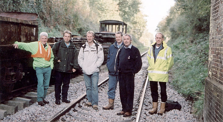 Civil Engineers survey group at Isfield